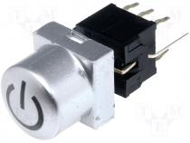 Switch microswitch bistable DC load:0.1A/30V LED THT