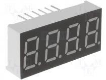 SA18-11EWA Display LED single 7-segment 44.5mm red 8-24mcd anode