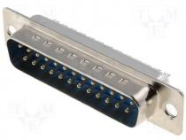 Connector D Sub male PIN 25 soldered on cable gold flash 5A