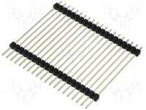 Pin header pin strips male PIN 20 straight double deck THT