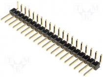 Pin header pin strips male PIN 20 angled 2.54mm THT 1x20
