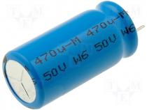 Capacitor electrolytic low impedance THT 470uF 50V Pitch 5mm