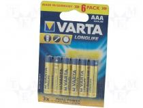 Battery alkaline AAA 1.5V blister 6pcs Man.series LONGLIFE