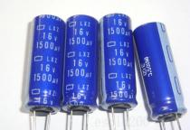 Capacitor electrolytic 1500uF 16V 10x28mm 105°C