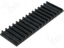 Heatsink extruded grilled black L 50mm W 159mm H 10mm