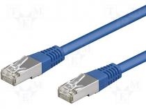 Patch cord F/UTP 5e connection 1 1 stranded CCA PVC blue