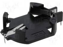 Socket Size 2032,BR2032,CR2032 Mounting THT, horizontal PBT