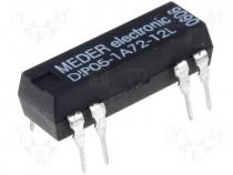 Reed relay SPST-NO, 1,25A, 5VDC, PCB mounting