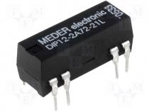 Reed relay DPST-NO, 1,25A, 12VDC PCB