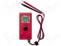 Digital multimeter LCD (4000) 3x/s V AC 1m÷4/40/400/600V