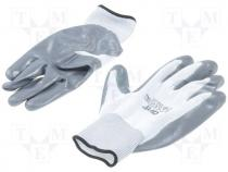 Protective gloves, Size L, grey-black