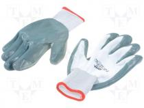 Protective gloves, Size XL, grey-black