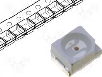 LED, SMD, 3528, green, 600-800mcd, 120°, 3.5x2.8mm