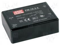 Pwr sup.unit pulse, 10W, 5VDC, 2A, 85÷264VAC, 120÷370VDC, 105g