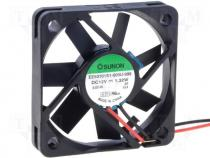 Fan DC, 12VDC, 50x50x10mm, 21.24m3/h, 29dBA, slide bearing, 1.32W