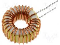 Inductor wire, 22uH, 3A, 50mΩ, THT