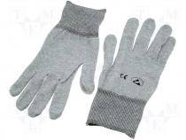 Protective gloves, ESD version, Size S
