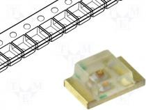 LED, SMD, 0805, green, 4-15mcd, 120°, 2x1.25mm, Package roll
