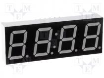 Display LED, quad 7-segment, 14.2mm, blue, 80mcd, cathode