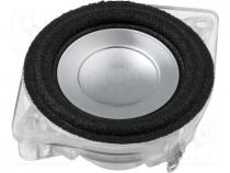 Loudspeaker, general purpose, 4W, 4Ω, Ø61x26mm, 0.09÷20kHz