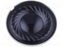 Loudspeaker, miniature, mylar, general purpose, 300mW, 8Ω, Ø23x5mm