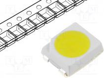LED, SMD, 3528,PLCC2, white cold, 8-8.5lm, 6000(typ)K, 120°, 20mA
