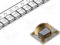 LED, ultraviolet, λd 365nm, 130°, 500mA, 3.8V, Lens  transparent