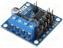 DC-motor driver, Icont out per chan 2A, Uin mot 7÷30V, Imax 6A