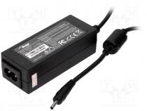 Pwr sup.unit  switched-mode, 19VDC, 2.1A, Out 3/1, 40W, 89x36x27mm