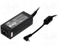 Pwr sup.unit  switched-mode, 19VDC, 2.1A, Out 2,5/0,7, 40W, 0÷40°C