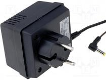Pwr sup.unit  transformer type, 4.5VDC, 0.8A, Out 4/1,7, 3.6W