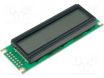 Display  LCD, alphanumeric, FSTN Positive, 16x2, green, LED, PIN 14