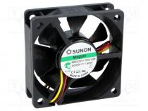 Fan  DC, axial, 24VDC, 60x60x20mm, 39.08m3/h, 33.5dBA, Vapo, 26AWG