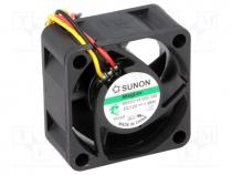 Fan  DC, axial, 12VDC, 40x40x20mm, 18.35m3/h, 27.5dBA, Vapo, 26AWG