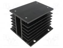 Heatsink  extruded, grilled, for thee phase solid state relays