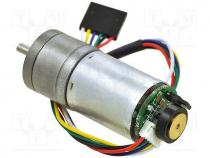 Motor  DC, with gearbox, 6VDC, HP, 75 1, 130rpm, max.920mNm, 6A