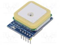Sensor  GPS, 2.7÷5VDC, IC  NEO-7M-C (B), Interface  UART, 9.6kbps
