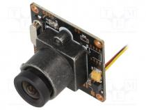 Sensor  camera, 6÷20VDC, Interface  RCA, 50mA, Resolution 728x488