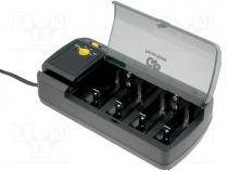 Charger  for rechargeable batteries, Ni-MH, Plug  EU