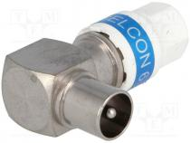 Plug, coaxial 9.5mm (IEC 169-2), for cable