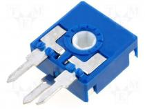 Potentiometer  mounting, single turn, vertical, 25kΩ, 0.15W, ±20%
