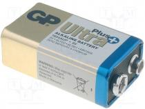 Battery alkaline, 9V, 6F22, ULTRA PLUS, Batt.no 1