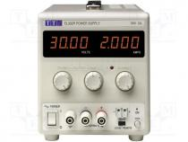 Pwr sup.unit  laboratory, Channels 1, 0÷30VDC, 0÷2A, Plug  EU, UK