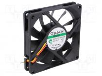 Fan  DC, axial, 12VDC, 80x80x15mm, 62.86m3/h, 34.7dBA, Vapo, 24AWG