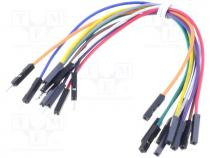 Connection cable, male-female, PIN 1, 150mm, Pcs 10