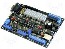 Board for applicat. with AVR microcontroller ATtiny2313