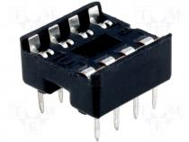 Socket for DIL ICs 8pin 7,62mm RM2,5mm