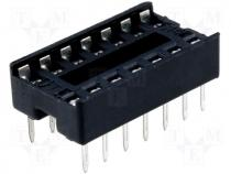 Socket for DIL ICs 14pin 7.62mm RM2.54mm