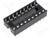 Socket for DIL ICs 18pin 7,62mm RM2,54mm
