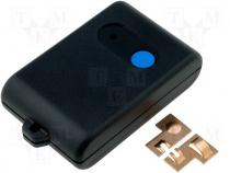 Enclosure for remote control ABS 56x36x16mm black 1pb